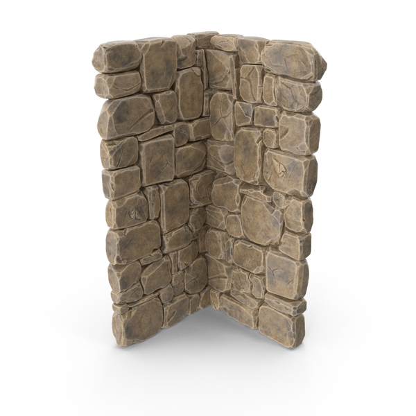 Modular Stone Wall Corner PNG & PSD Images