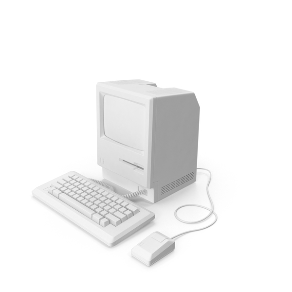 Computer: Monochrome Apple Macintosh 128k PNG & PSD Images