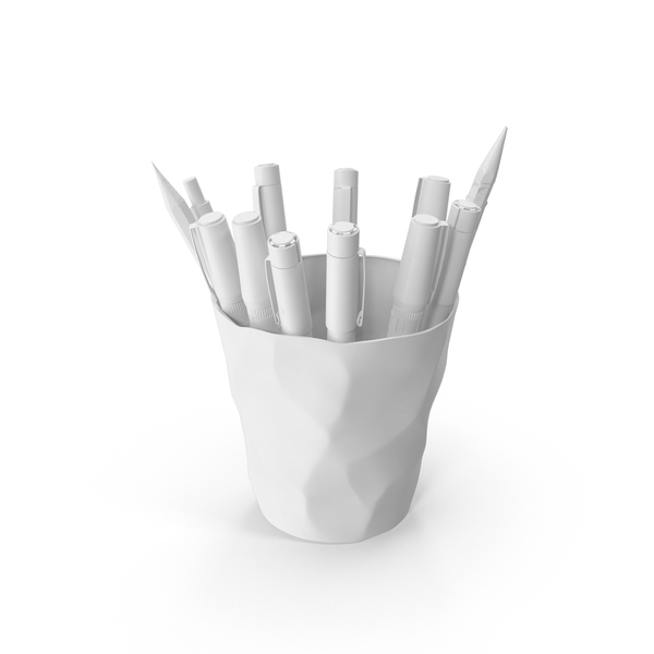 Art Supplies: Monochrome Artist Cup PNG & PSD Images
