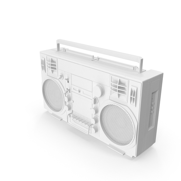Monochrome Boombox PNG & PSD Images