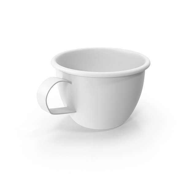 Cup: Monochrome Coffee Mug Object