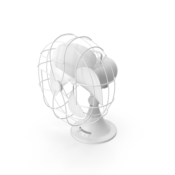 Table: Monochrome Desk Fan PNG & PSD Images