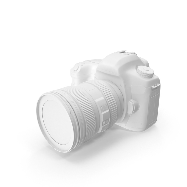 Monochrome Generic SLR Digital Camera Object