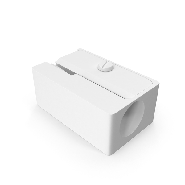 Monochrome Pencil Sharpener Object