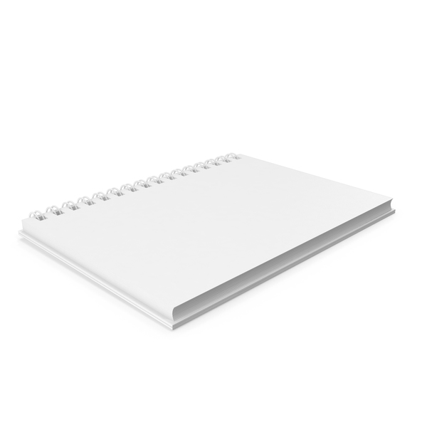 Monochrome Ringed Sketchbook PNG & PSD Images