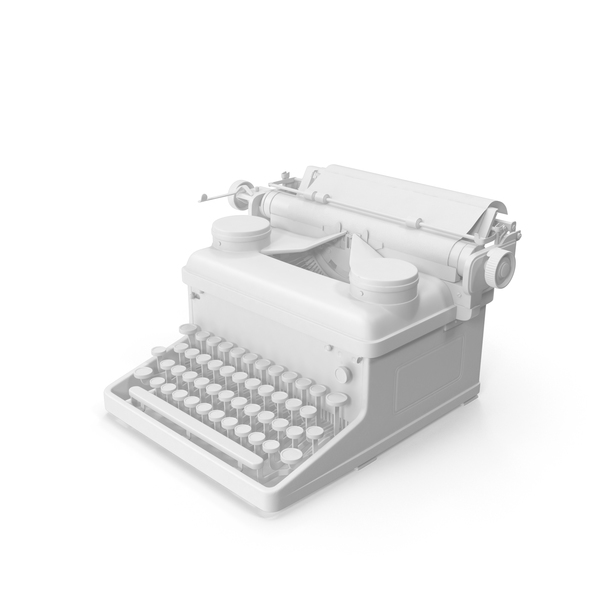 Monochrome Vintage Royal Typewriter PNG & PSD Images