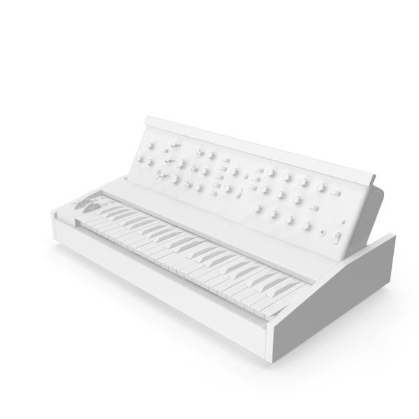 Keyboard Synthesizer: Monochrome Vintage Synth PNG & PSD Images