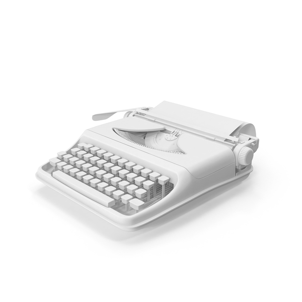 Monochrome Vintage Typewriter Object