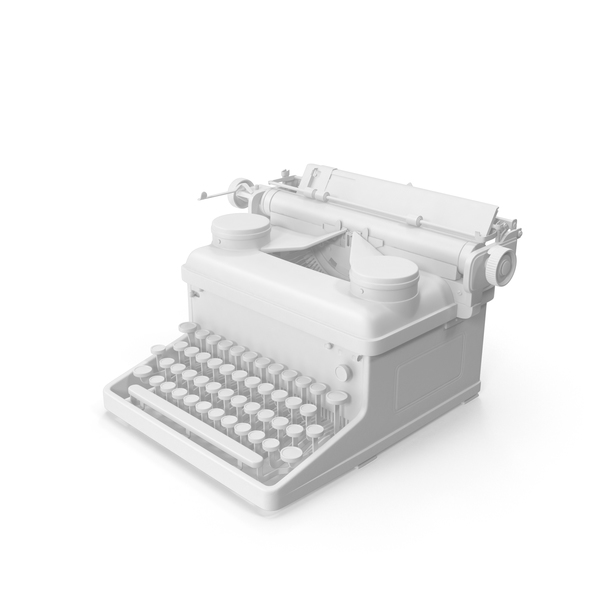 Monochrome Vintage Typewriter Royal PNG & PSD Images