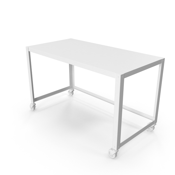 Monochrome Wheeled Desk PNG & PSD Images