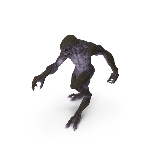 Monster Beast Walking Pose PNG & PSD Images