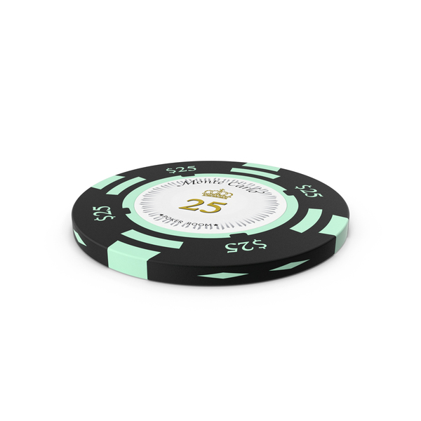 Poker Chips: Monte Carlo 25 Dollars Chip PNG & PSD Images