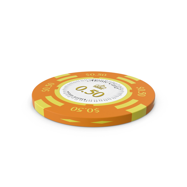 Poker Chips: Montecarlo Fiches 50 Cent Chip PNG & PSD Images