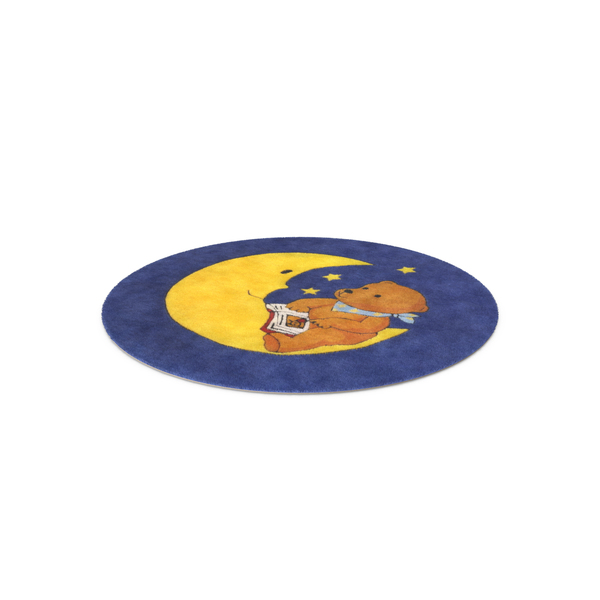 Moon and Bear Rug PNG & PSD Images