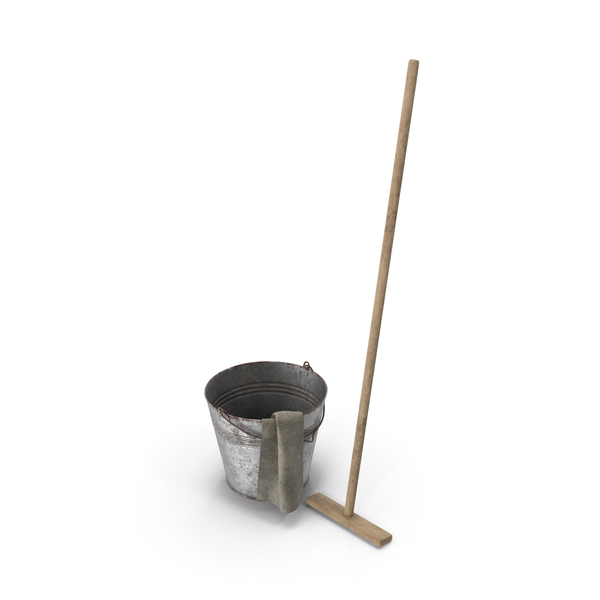 Mop and Bucket PNG & PSD Images