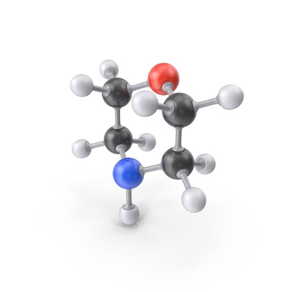 Morpholine Molecule PNG & PSD Images