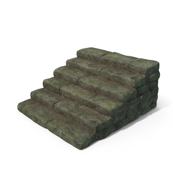 Mossy Stone Steps PNG & PSD Images