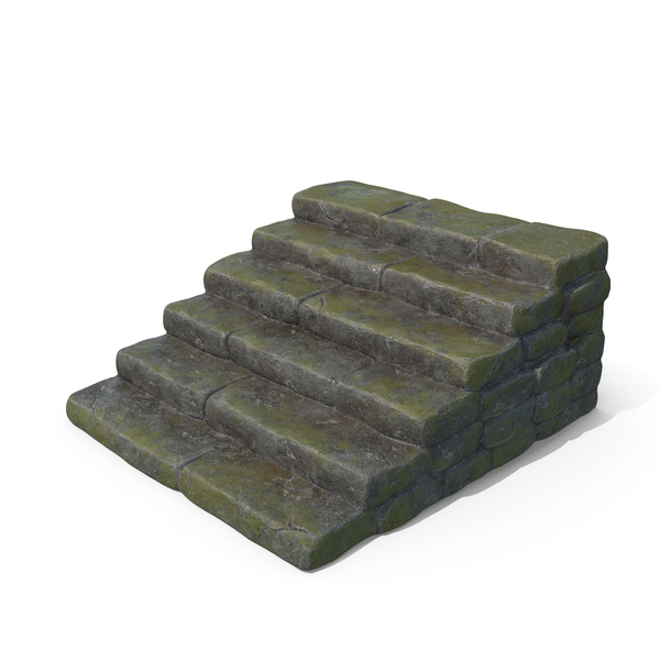 Mossy Wet Stone Steps PNG & PSD Images