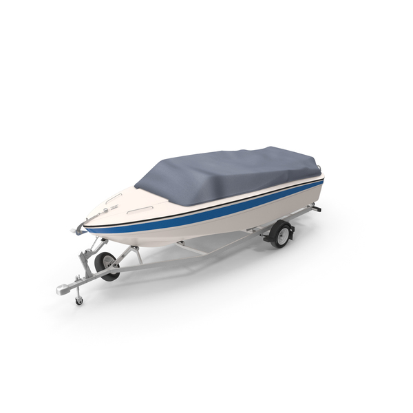 Motor Boat On Trailer PNG & PSD Images