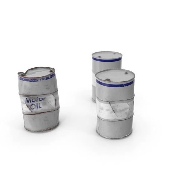 Drum: Motor Oil Barrels Set PNG & PSD Images
