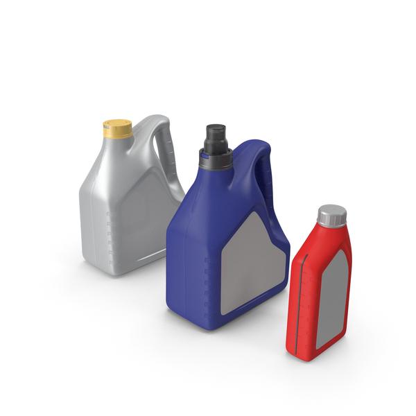 Motor Oil Bottles Set Generic PNG & PSD Images