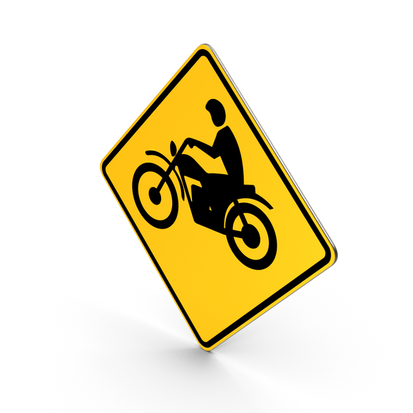 Traffic Signs: Motorcycle Crossing Road Sign PNG & PSD Images