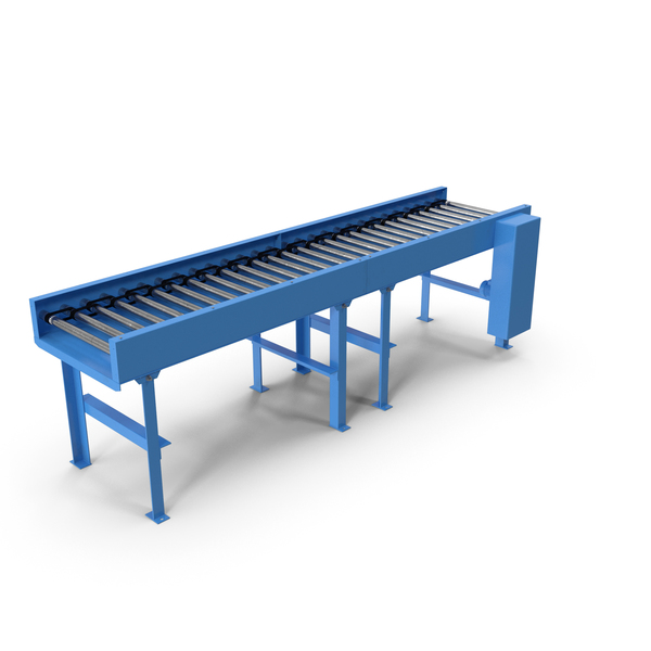Motorised Roller Conveyor Belt PNG & PSD Images