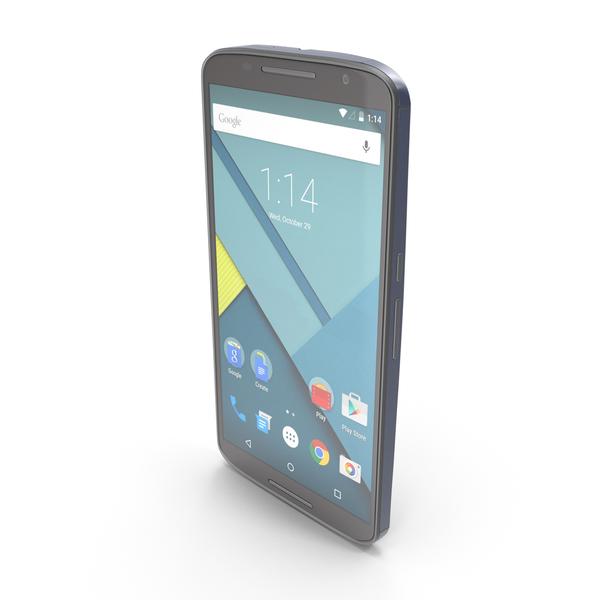 Motorola Google Nexus 6 Midnight Blue PNG & PSD Images
