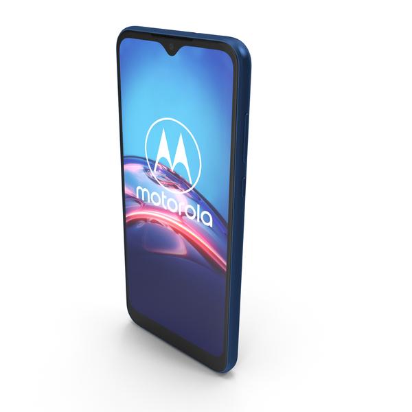 Motorola Moto E 2020 Blue PNG & PSD Images