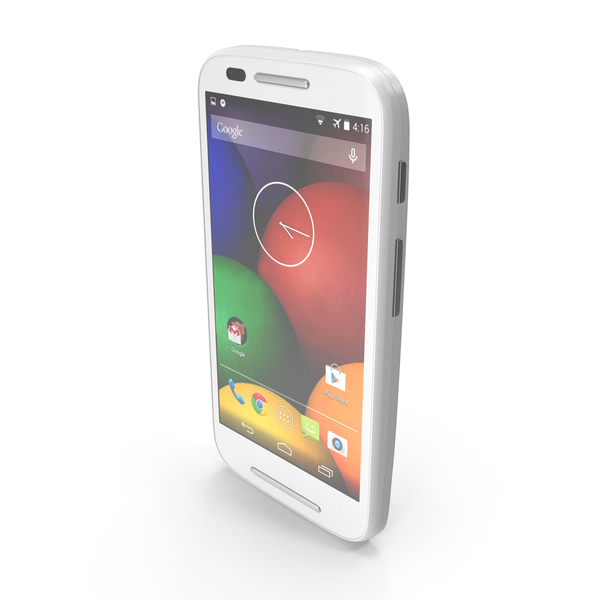 Motorola Moto E & E Dual White PNG & PSD Images