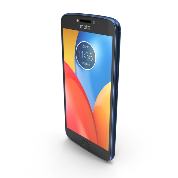 Motorola Moto E4 Plus Oxford Blue PNG & PSD Images