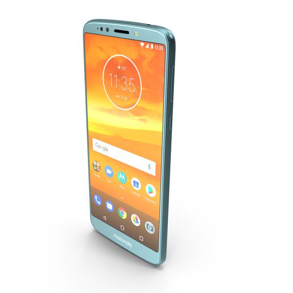 Motorola Moto E5 Plus Blue PNG & PSD Images