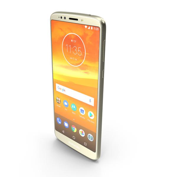 Motorola Moto E5 Plus Gold PNG & PSD Images