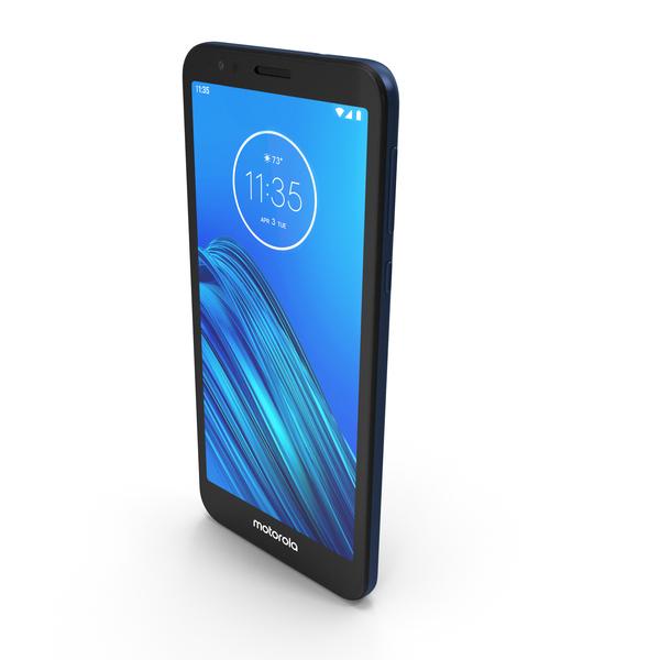 Motorola Moto E6 Blue PNG & PSD Images