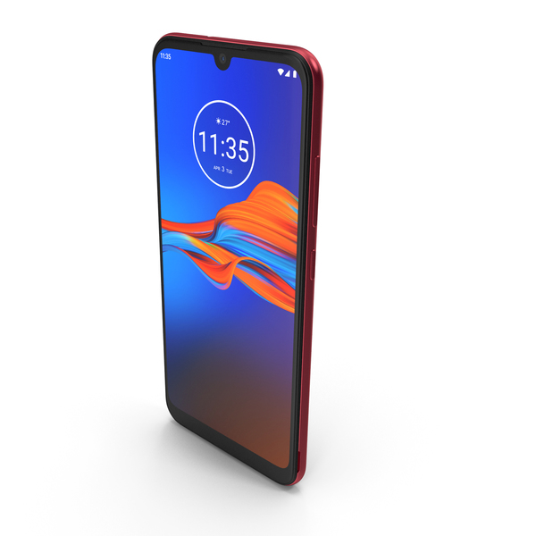 Motorola Moto E6 Plus Dark Red PNG & PSD Images