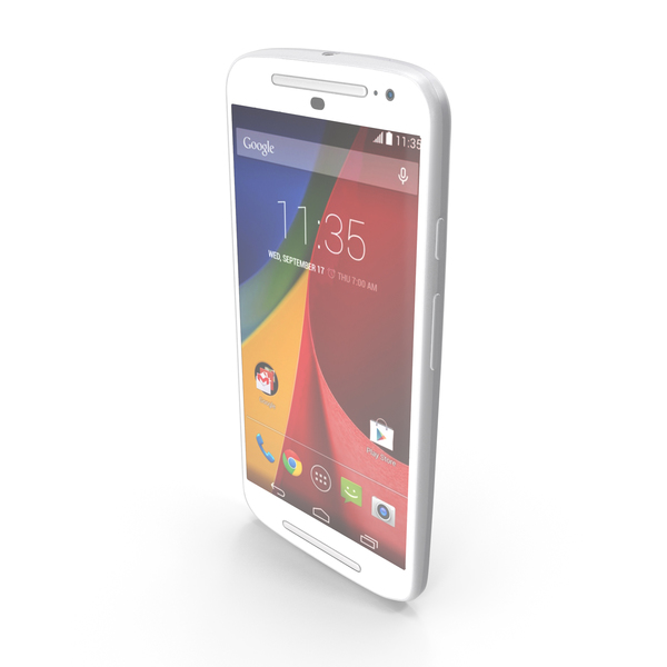 Motorola Moto G 2014 and G 2014 Dual SIM White PNG & PSD Images