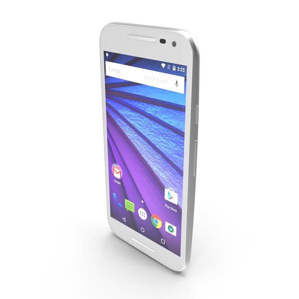 Motorola Moto G 2015 White PNG & PSD Images