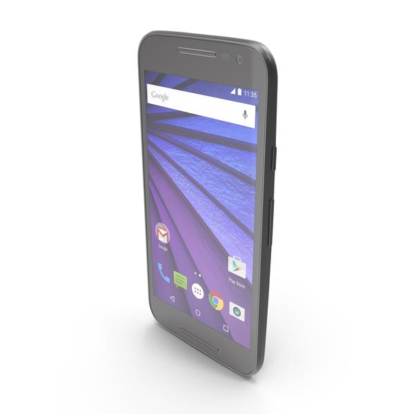 Smartphone: Motorola Moto G 3rd Gen Black PNG & PSD Images