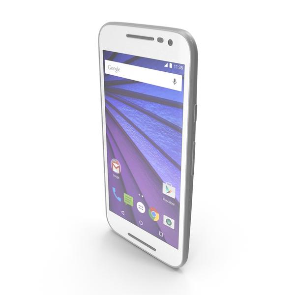 Motorola Moto G 3rd Gen White PNG & PSD Images