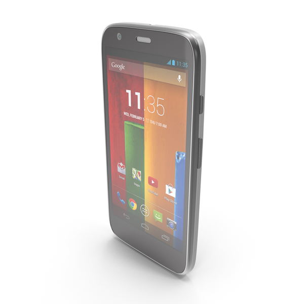 Motorola Moto G & G Dual SIM White PNG & PSD Images