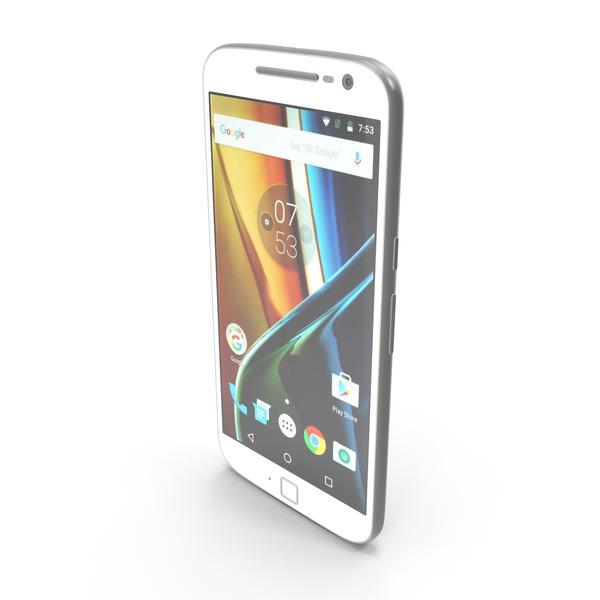 Motorola Moto G4 Plus White PNG & PSD Images