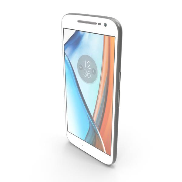 Motorola Moto G4 White PNG & PSD Images
