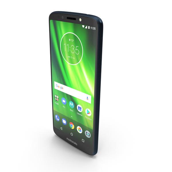 Motorola Moto G6 Play Indigo Blue PNG & PSD Images