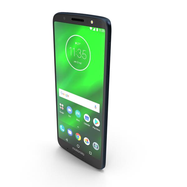 Motorola Moto G6 Plus Indigo Blue PNG & PSD Images