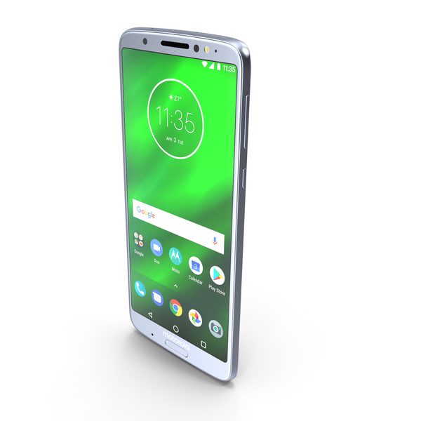 Motorola Moto G6 Plus Silver PNG & PSD Images