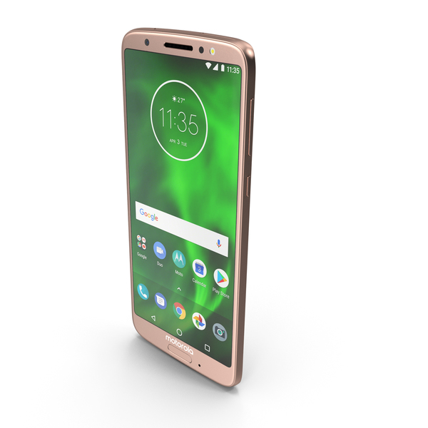 Motorola Moto G6 Rose Gold/Blush PNG & PSD Images
