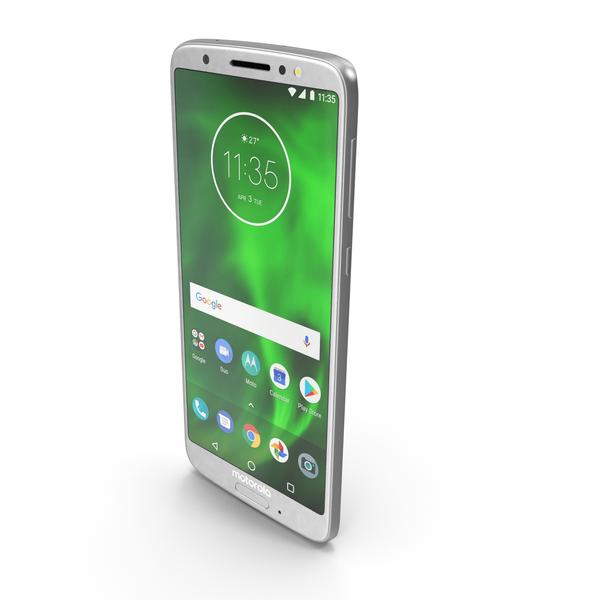 Motorola Moto G6 Silver PNG & PSD Images