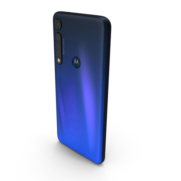 Motorola Moto G8 Plus Blue PNG & PSD Images
