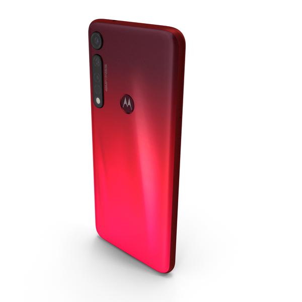 Motorola Moto G8 Plus Red PNG & PSD Images