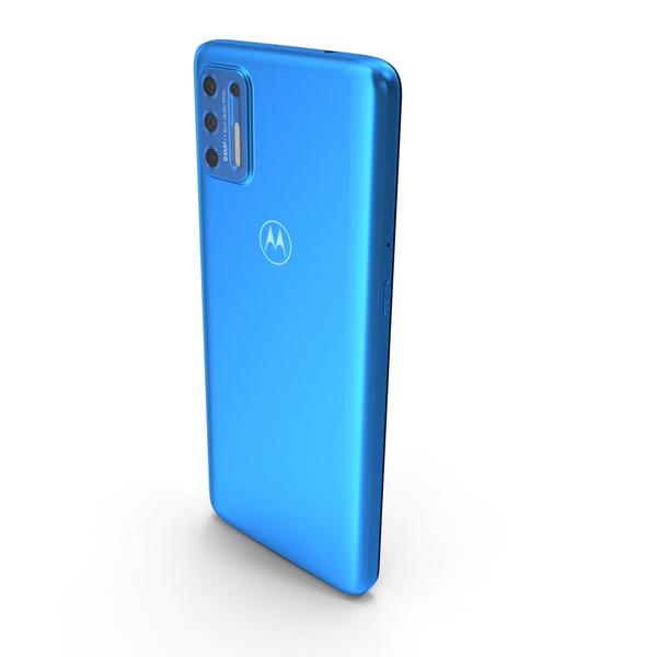 Motorola Moto G9 Plus Blue PNG & PSD Images